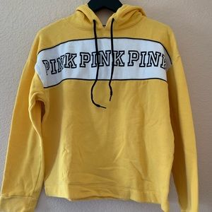 Yellow hoodie form PINK